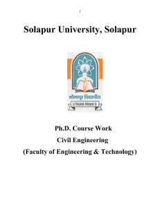Solapur University, Solapur  Ph.D. Course Work Civil Engineering