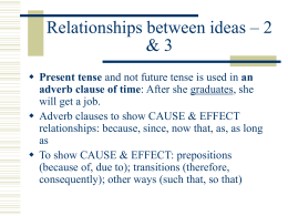 Relationships between ideas – 2 & 3