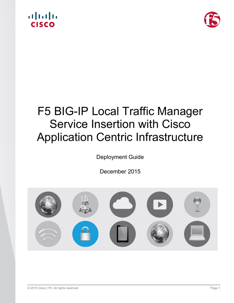 F5 BIG-IP Local Traffic Manager Service Insertion with Cisco