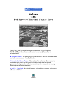 Welcome to the Soil Survey of Marshall County, Iowa