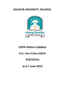CGPA Pattern Syllabus STATISTICS  w.e.f. June 2015
