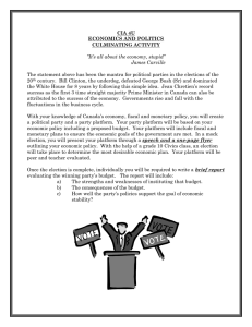 CIA 4U ECONOMICS AND POLITICS CULMINATING ACTIVITY