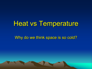 Heat vs Temperature Why do we think space is so cold?