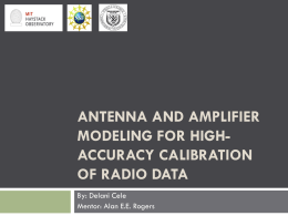 ANTENNA AND AMPLIFIER MODELING FOR HIGH- ACCURACY CALIBRATION OF RADIO DATA