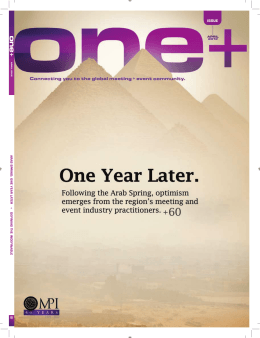 ARAB SPRING: ONE YEAR LA TER + DEFINING THE INDEFINABLE