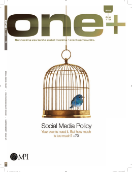 SOCIAL MEDIA POLICY + CREA TIVE CORPORA