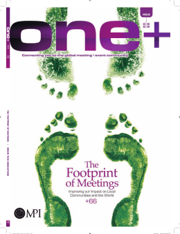 THE FOOTPRINT OF MEETINGS + GREEN TECH INNOV A