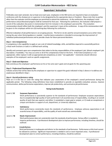 CUNY Evaluation Memorandum - HEO Series Supervisors' Instructions
