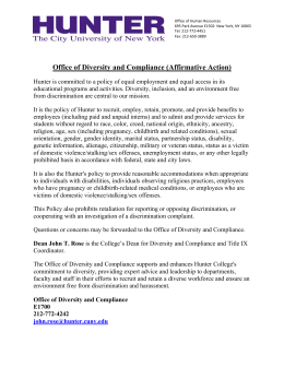 Office of Diversity and Compliance (Affirmative Action)