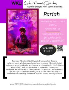 [          ... Pariah Discussion led by Dr. Chris Lewis,