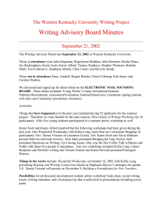 Writing Advisory Board Minutes The Western Kentucky University Writing Project