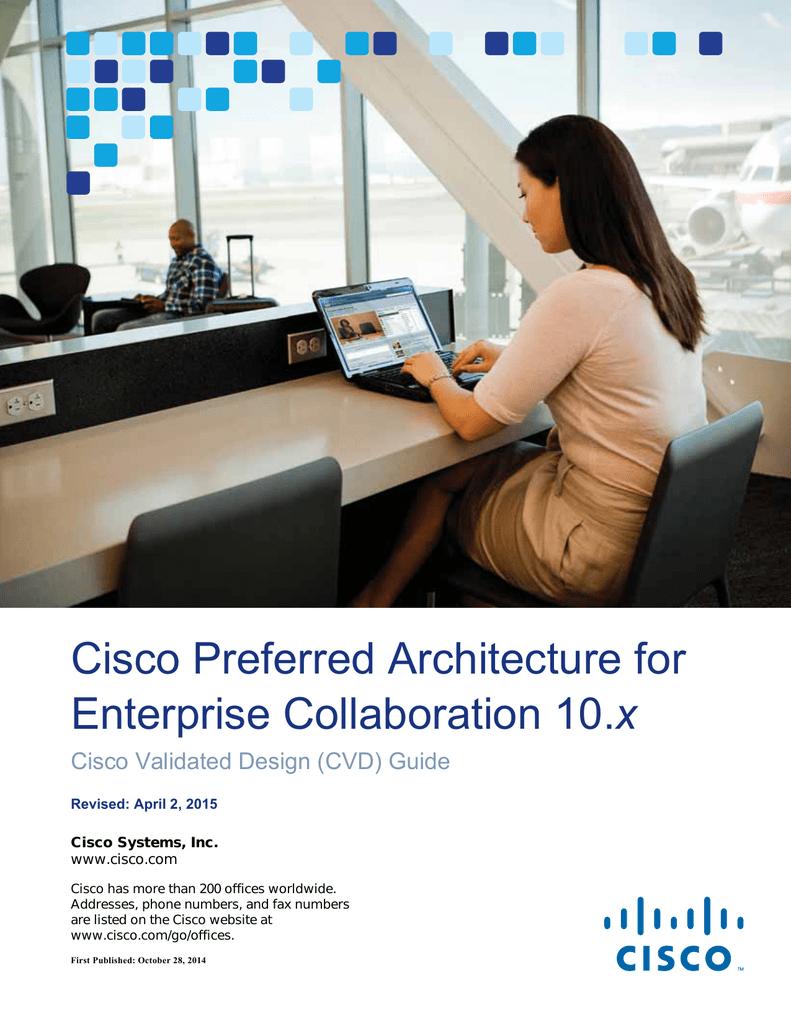 Cisco Preferred Architecture for x Cisco Validated Design (CVD
