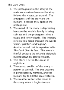 The Dark Ones: male sea creature because the story