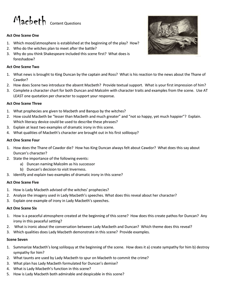 macbeth act i and ii study An analysis of act2 scene2 (ii2) in act 2 scene 2, macbeth has just murdered king duncan our study guides highlight the really important stuff you need to know.