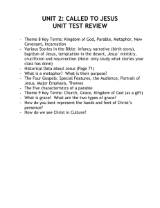 UNIT 2: CALLED TO JESUS UNIT TEST REVIEW
