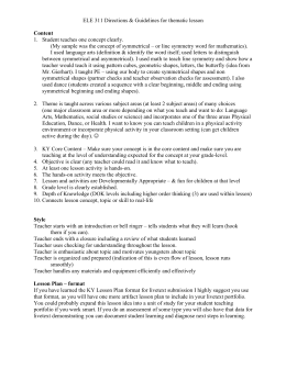 Lesson Plan Template Name Date AgeGrade Level - Thematic lesson plan template