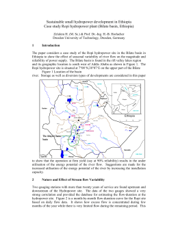 Sustainable small hydropower development in Ethiopia