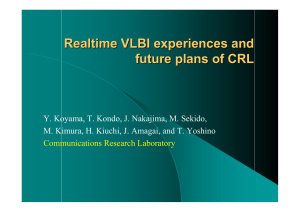 Realtime VLBI experiences and future plans of CRL