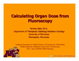 Calculating Organ Dose from Fluoroscopy