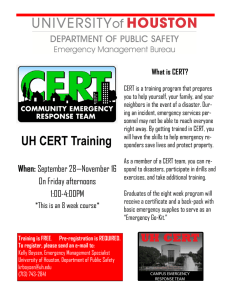 What is CERT?