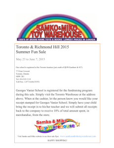 Toronto & Richmond Hill 2015 Summer Fun Sale