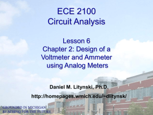 ECE 2100 Circuit Analysis Lesson 6 Chapter 2: Design of a