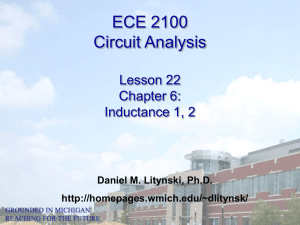 ECE 2100 Circuit Analysis Lesson 22 Chapter 6: