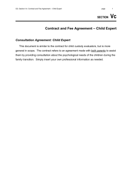 Vd section contract and fee agreement consultation vc child expert contract and fee agreement platinumwayz