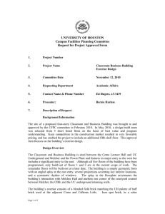 UNIVERSITY OF HOUSTON Campus Facilities Planning Committee Request for Project Approval Form