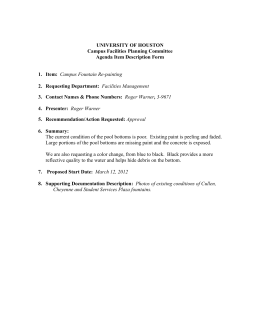 UNIVERSITY Campus Facilities Agenda Item Description Form