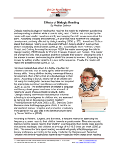 Effects of Dialogic Reading