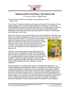 Helping Children Get Where They Need to Be