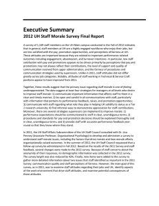 Executive Summary  2012 UH Staff Morale Survey Final Report