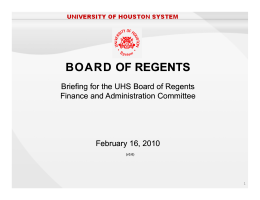 BOARD BOARD OF REGENTS OF REGENTS