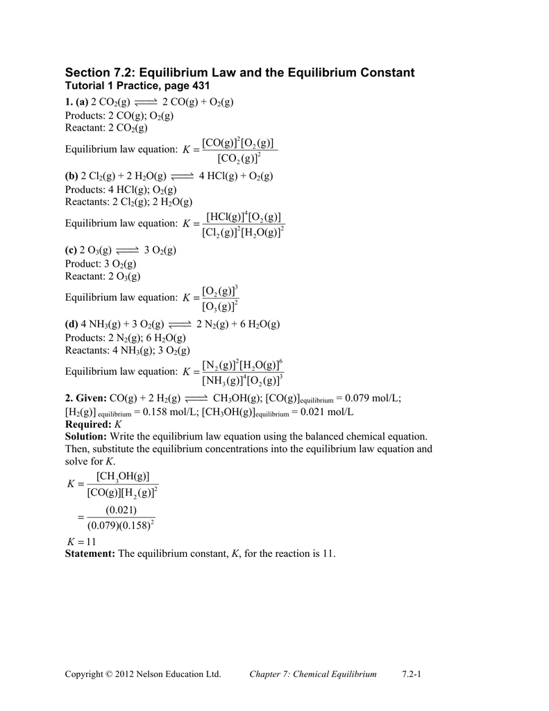 Balancing chemical equations exercises with answers pdf