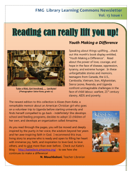 FMG  Library Learning Commons Newsletter Vol. 13 Issue 1