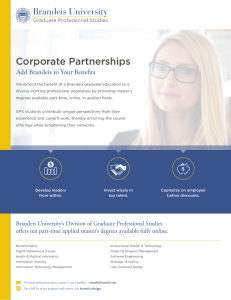 Corporate Partnerships Add Brandeis to Your Benefits