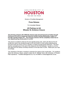 Press Release UH Parking Lot 4A Wheeler St. Entrance Closure