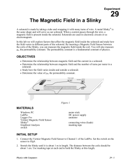 29 The Magnetic Field in a Slinky Experiment