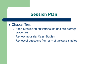 Session Plan Chapter Ten: