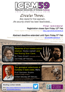 Abstract deadline extended until 5pm Friday 5 Feb
