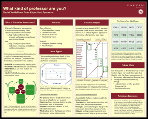 What kind of professor are you? Methods Factor Analysis