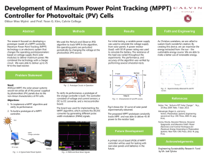 Development of Maximum Power Point Tracking (MPPT) Abstract