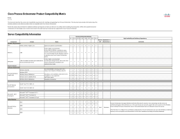 Cisco Process Orchestrator Product Compatibility Matrix