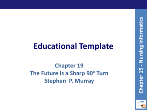 Educational Template Chapter 19 The Future is a Sharp 90 Turn