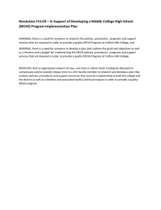 Resolution F15.03 – In Support of Developing a Middle College... (MCHS) Program Implementation Plan