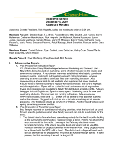 Academic Senate December 5, 2007 Approved Minutes