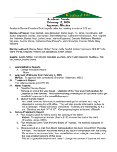 Academic Senate February 18, 2009 Approved Minutes