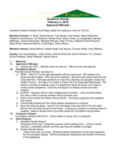 Academic Senate February 3, 2010 Approved Minutes
