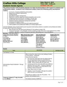 Crafton Hills College Academic Senate Agenda Date: March 6, 2013